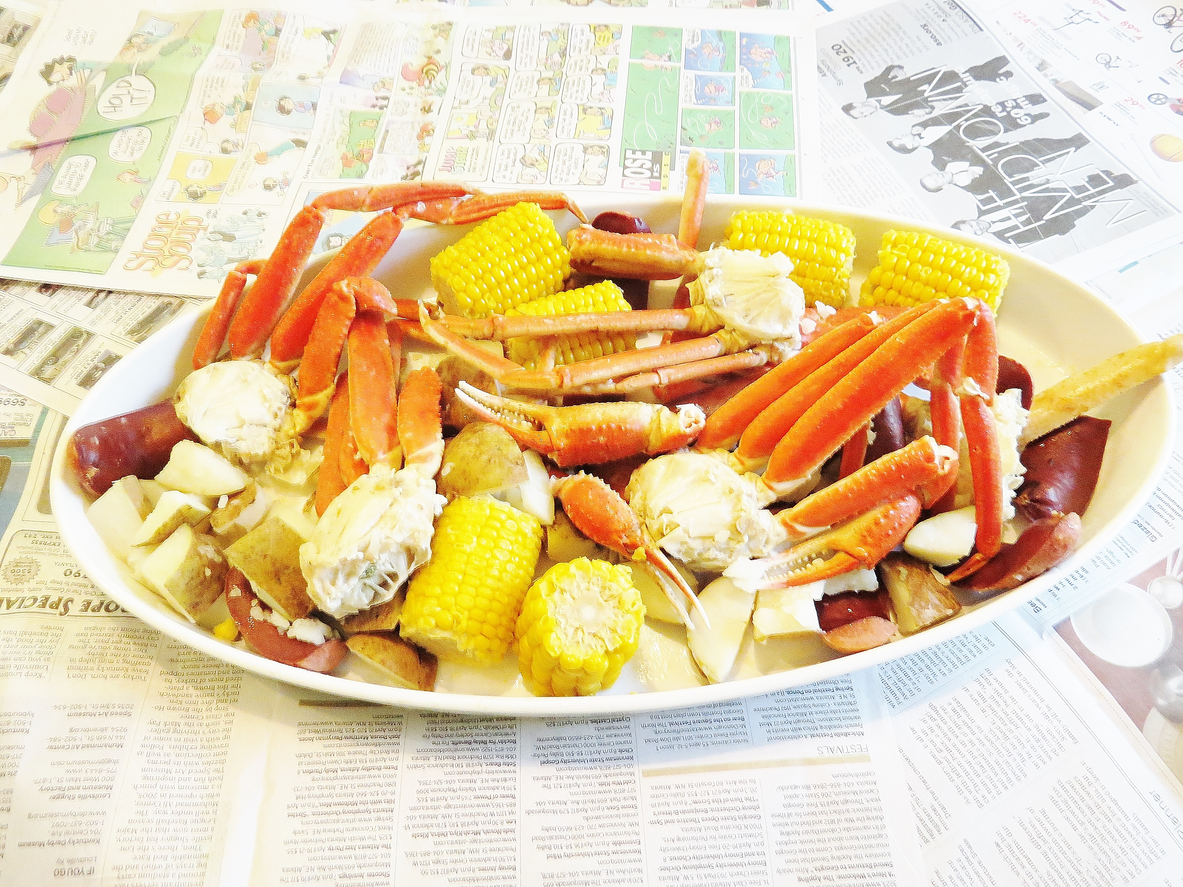 Snow Crab Boil for a lazy dinner