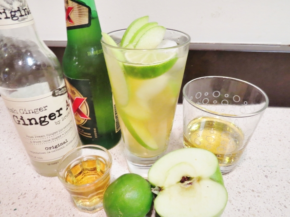 4 oz mexican style beer, 2 oz bourbon 2oz ginger ale, 2oz apple juice, a squeeze of lime in a BIG glass over ice