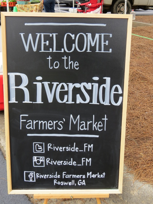 Welcome to the Riverside Farmer's market, Roswell GA