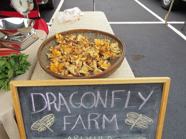 Chanterelle mushrooms from Dragonfly farms
