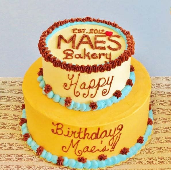Mae's Bakery Birthday cake.  Happy first birthday