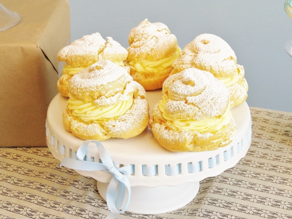One of my favorite desserts, creampuffs have a light, crispy shell and a rich creamy vanilla filling