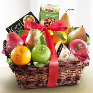 fruit, nuts, cheese, gift basket, Thanksgiving, holiday gift