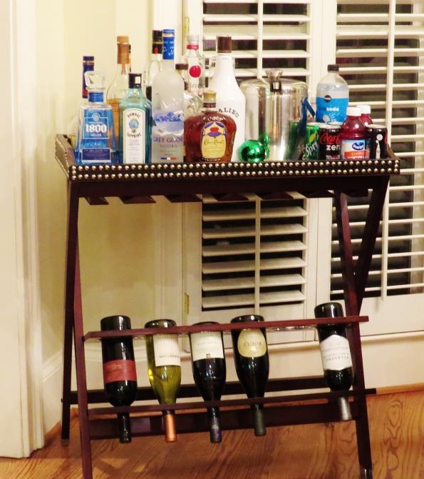 bar, bar cart,