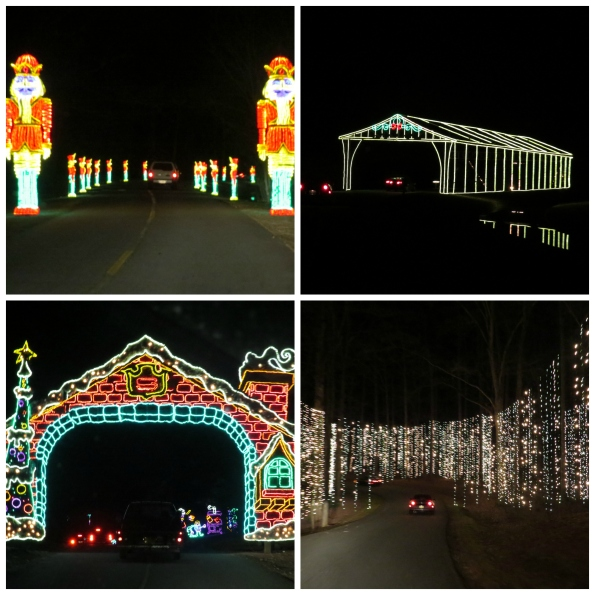 Christmas lights, Callaway Gardens, lights holiday