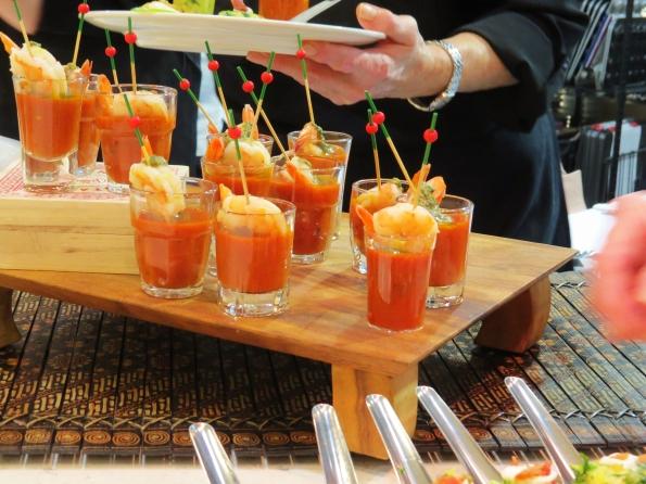 shrimp, tomato soup, appetizers, cocktail