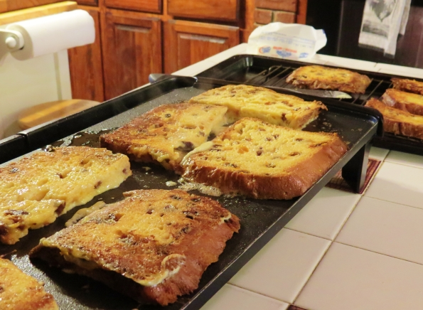 French toast, panettone, breakfast, brunch, Christmas