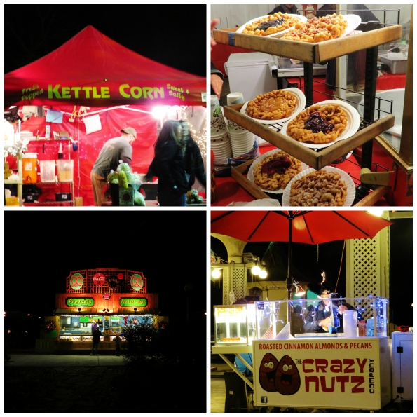 Christmas, Callaway Gardens, funnel cake, fried apples,kettle corn, nuts