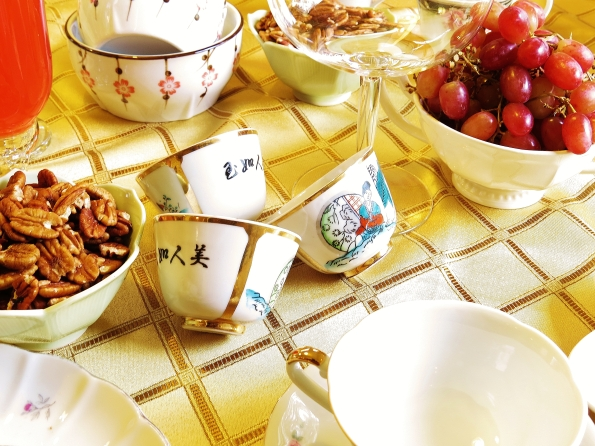 Sake, tea, tea party,
