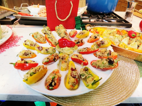 appetizers, stuffed peppers, vegan appetizers, quinoa, vegan