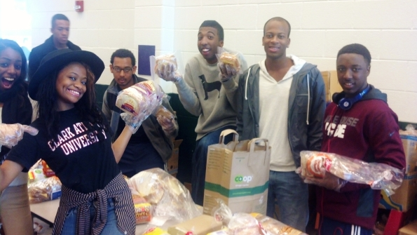 Young Volunteers from Clark Atlanta University, Spelman College and Morehouse College