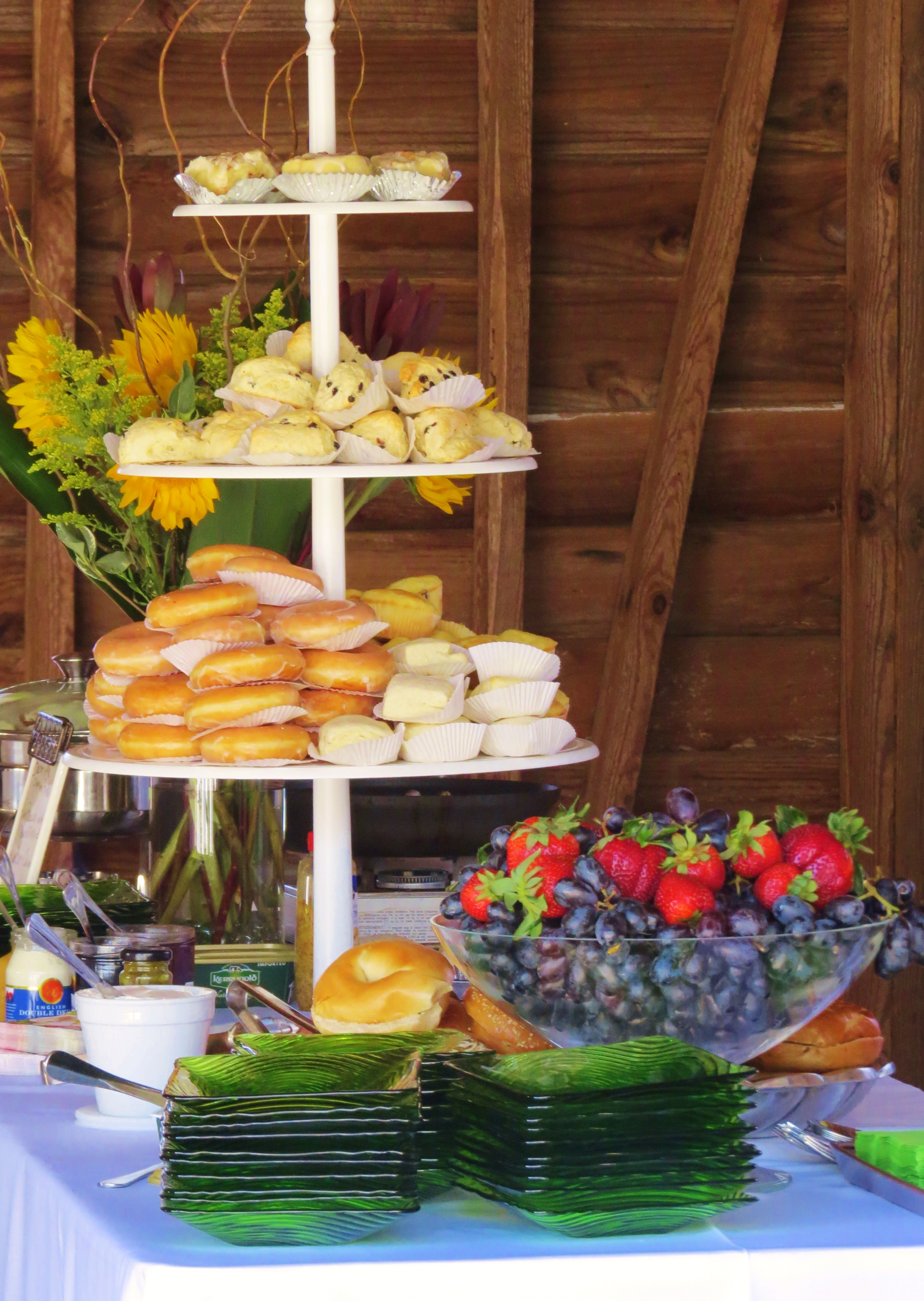Fresh baked treats and fresh fruit make a perfect brunch
