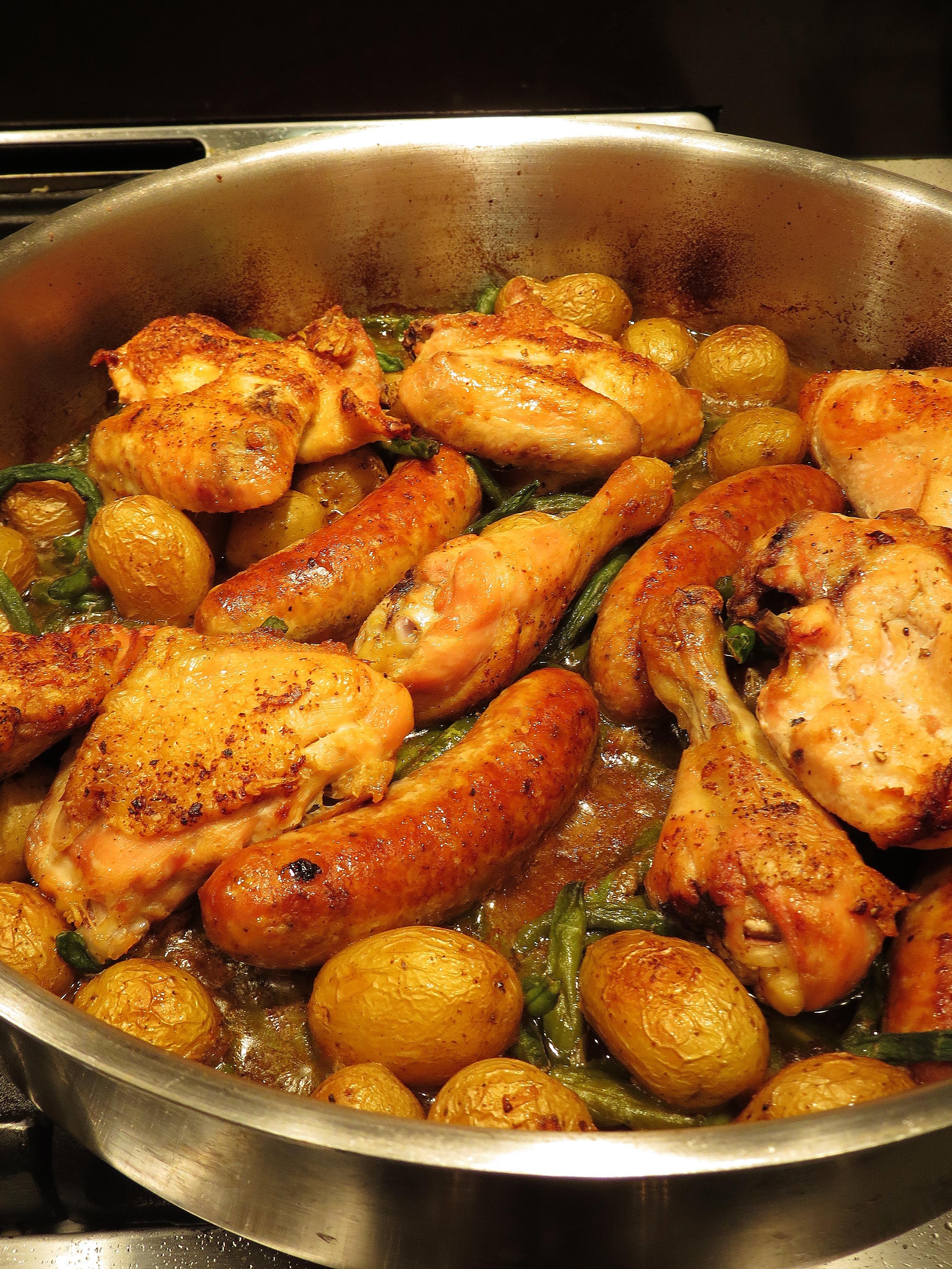 Sweet Savant #SkilletSupper - Chicken, Sausage and Potato ...