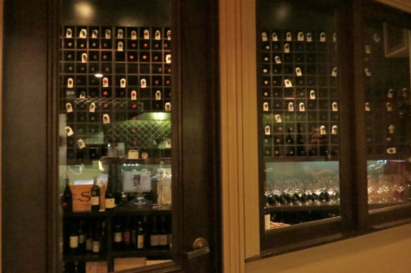 The wine room at Davio's.  They are in no danger of running out.