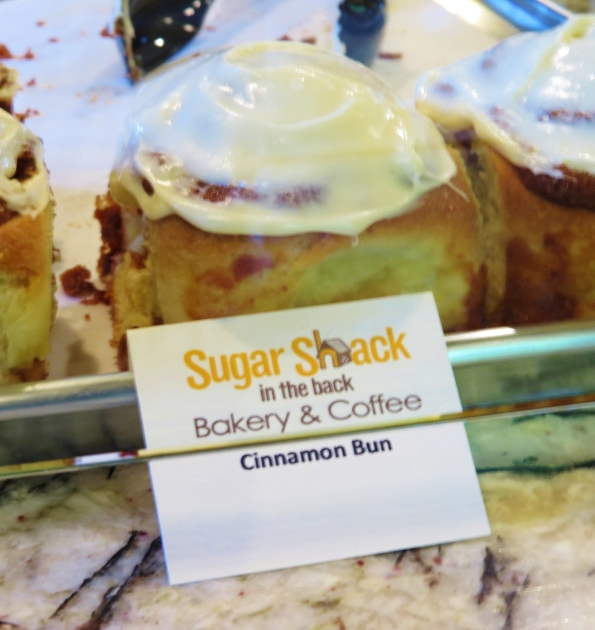 Tender and delicious cinnamon buns at Sugar Shack in the Back