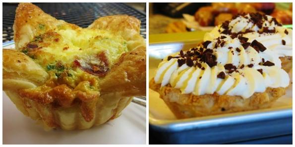 quiche and cream pie