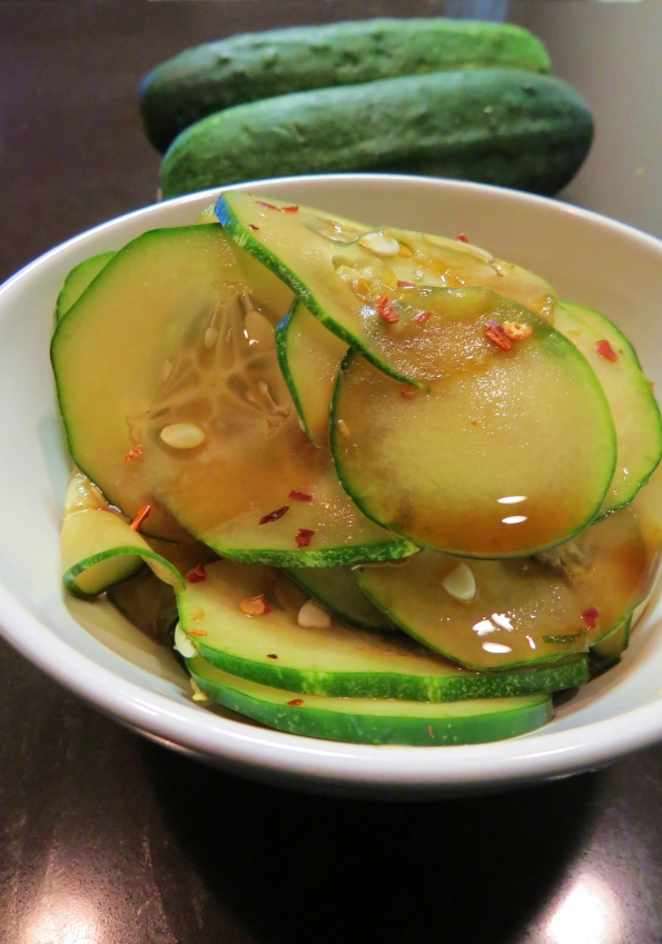Soy Marinated Cucumbers