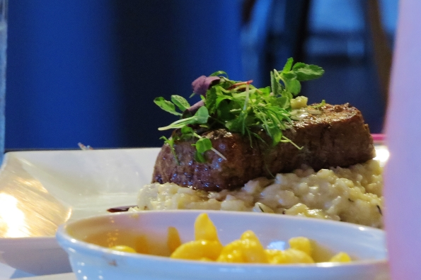 Blue Cheese Tenderloin with Wild Mushroom Risotto