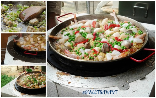 The stages of paella