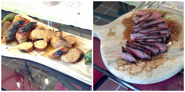 Grilled steak and sausage make easy and delicious appetizers