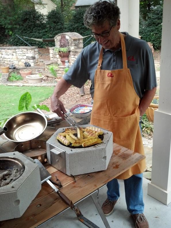 HexxCooker grilling some pineapple for dessert