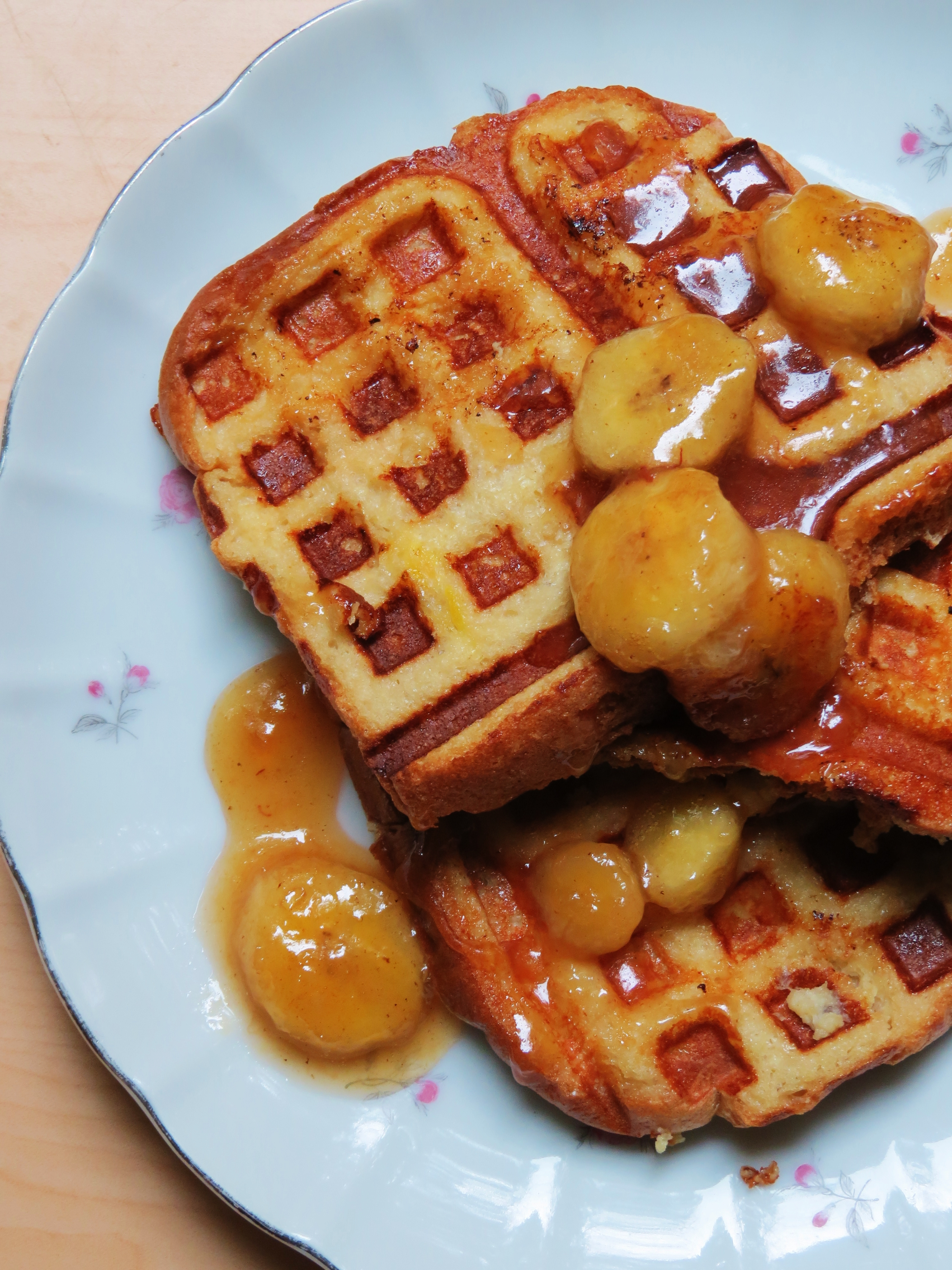 French Toast Waffles..yes, you read that right - Sweet Savant