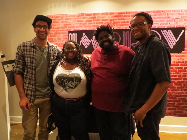 From left to right Rick Glassman, me, Ron Funches, and my husband. Catch Ron Funches and Rick Glassman on Undateable-NBC.