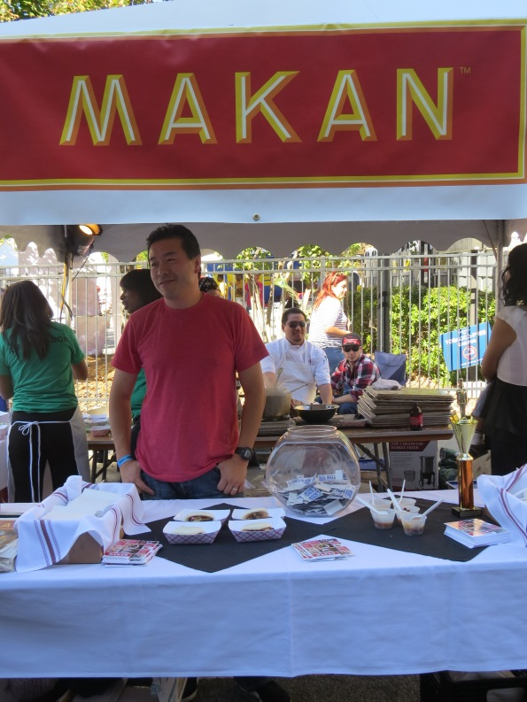 Makan was our final stop, we acutally ran out of tickets and had to purchace more (we didn't need a whole sheet of 10 tickets so I went half with a stranger who also needed a few more tickets THANKS STRANGER). I was most excited about sampling their food