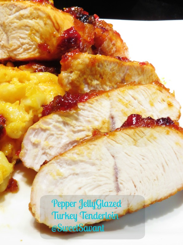 Turkey tenderloin gets smokey with paprika and sweet with pepper jelly.